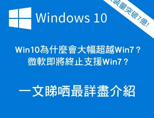 最詳盡的Windows 10介紹!是什麼原因令它大幅超越Windows 7?